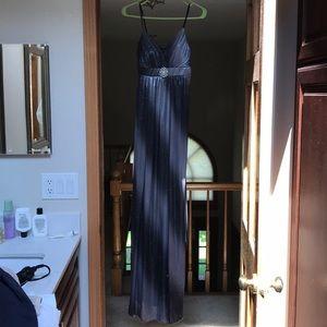 Ruby Rox Small silver grey dress